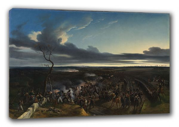 Vernet, Emile Jean Horace: The Battle of Montmirail. French Napoleonic War Fine Art Canvas. Sizes: A3/A2/A1 (003476)